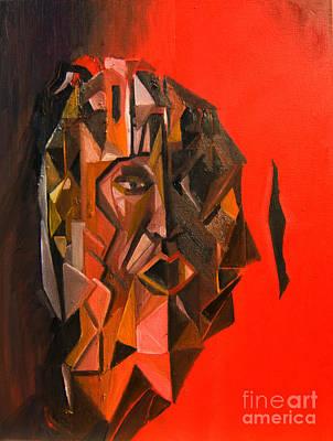 Painting - Portrait Mask by James Lavott