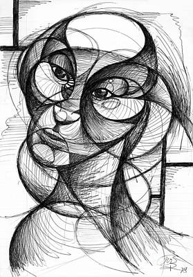 Drawing - Portrait by Nicholas Burningham