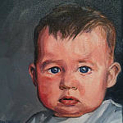 Painting - Commission Baby Portrait  by Christine Montague