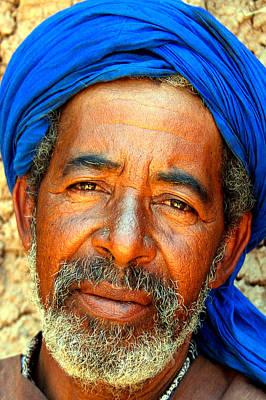 Portrait Of A Berber Man  Art Print by PIXELS  XPOSED Ralph A Ledergerber Photography