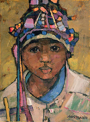 Bridgeman Art Library Painting - Portrait Of A Boy by Anna Kostenko