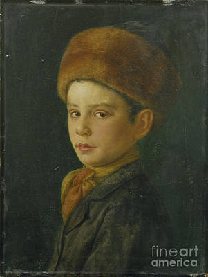 Menorah Painting - Portrait Of A Boy by Celestial Images