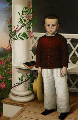 Vines Painting - Portrait Of A Boy by James B Read
