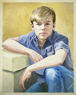 Painting - Portrait Of A Boy by Kathryn Donatelli