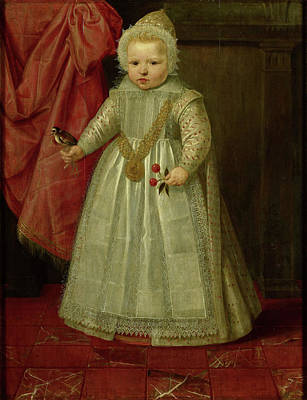 Mechelen Painting - Portrait Of A Boy, Possibly Louis Of Nassau, Later Lord by Quint Lox