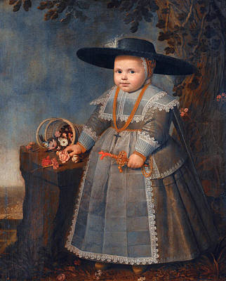 Painting - Portrait Of A Boy by Willem van der Vliet