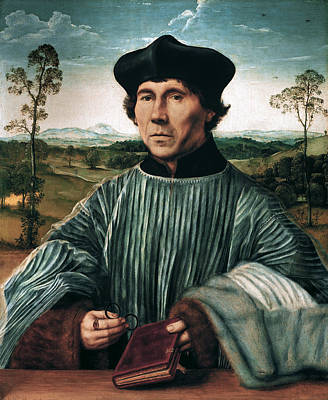 Portrait Of A Canon Art Print by Quentin Matsys