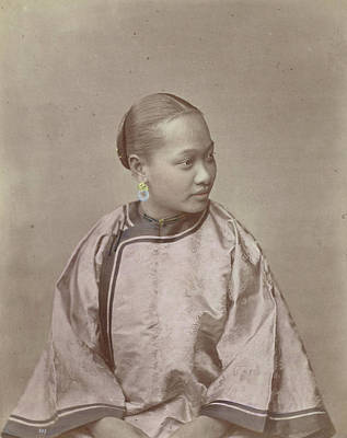 Portrait Of A Chinese Woman, Attributed To Baron Raimund Art Print