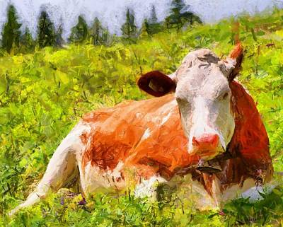 Portrait Of A Cow 2 Art Print