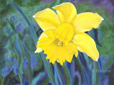 Daffodils Painting - Portrait Of A Daffodil by Jennifer Frampton