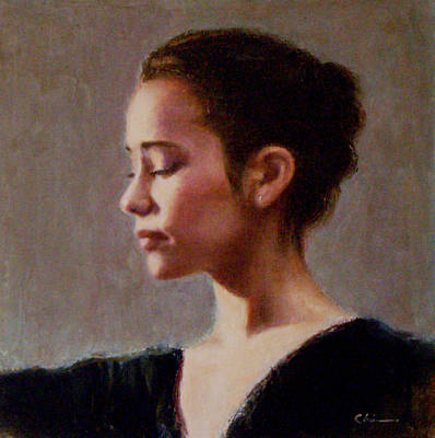 Painting - Portrait Of A Dancer by Chisho Maas