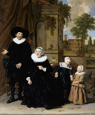 1636 Painting - Portrait Of A Dutch Family by Frans Hals