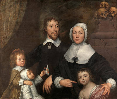 Component Painting - Portrait Of A Family, Probably That Of Richard Streatfeild by Litz Collection
