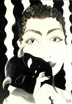 Self-portrait Mixed Media - Portrait Of A Fiend by Ohso Faboolus