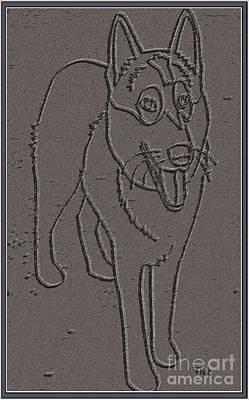 Four-legged Friends Digital Art - Portrait Of A Friend Poaf0000001 by Pemaro