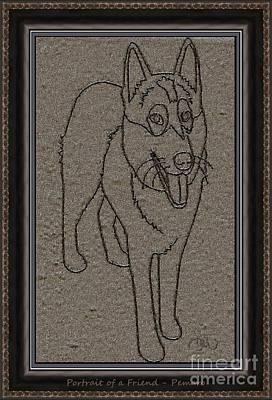 Four-legged Friends Digital Art - Portrait Of A Friend Poaf02 by Pemaro