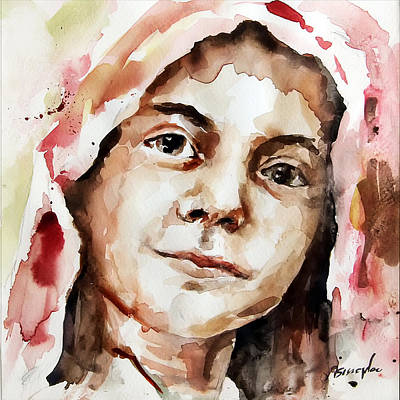 Portrait Painting - Portrait Of A Girl by Michael Tsinoglou