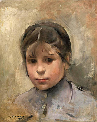Painting - Portrait Of A Girl by Ramon Casas