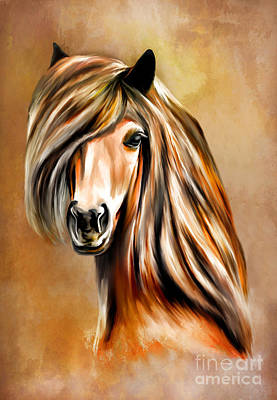Horse Head Digital Art - Portrait Of A Horse. by Andrzej Szczerski