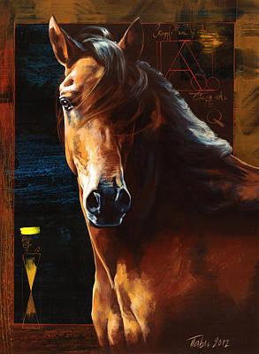 Portrait Of A Horse Art Print by Dragan Petrovic Pavle