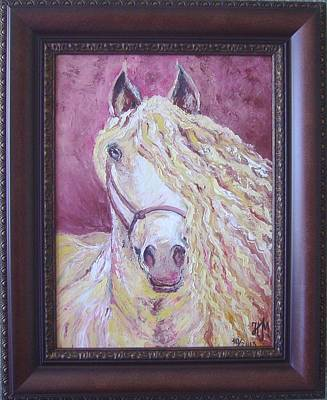 Painting - Portrait Of A Horse by Nina Mitkova