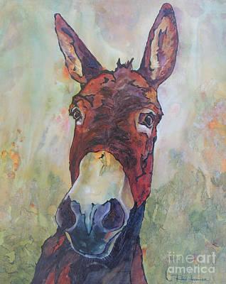 Jackass Painting - Portrait Of A Jackass by Robin Hegemier