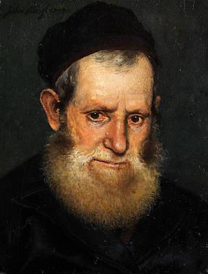 Isidor Kaufmann Painting - Portrait Of A Jewish Scholar Or Rabbi by Isidor Kaufmann