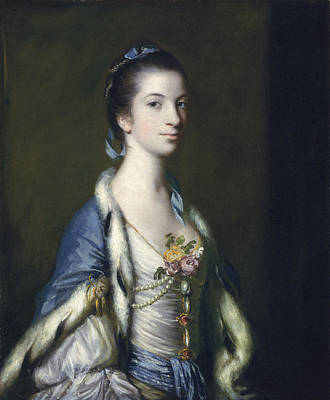 Portrait Of A Lady, 1758 Oil On Canvas Art Print