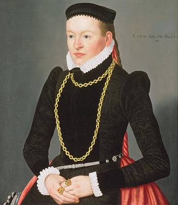 Portrait Of A Lady, C.1585 Art Print