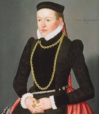 Portrait Of A Lady, C.1585 Art Print by Lorenz Strauch