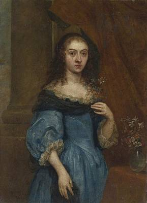 Flemish School Painting - Portrait Of A Lady by Celestial Images