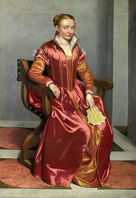 Dama Painting - Portrait Of A Lady by Giovanni Battista Moroni