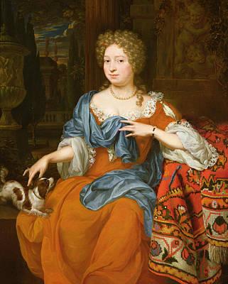 Portrait Of A Lady In A Red Dress, 1691 Art Print by Thomas van der Wilt