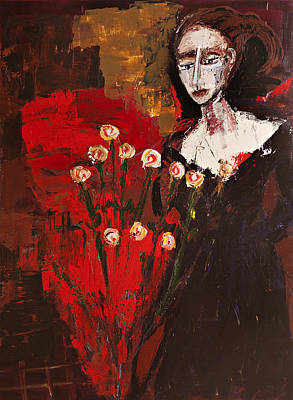 Painting - Portrait Of A Lady by Maggis Art