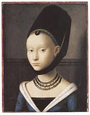 Portrait Of A Lady Art Print by Petrus Christus