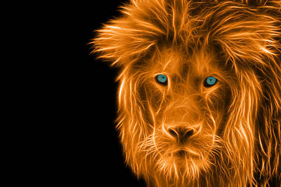 Muzzle Digital Art - Portrait Of A Lion by Jaroslav Frank