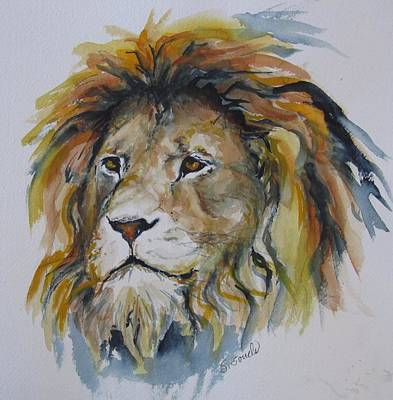 Painting - Portrait Of A Lion by Sharon Sorrels