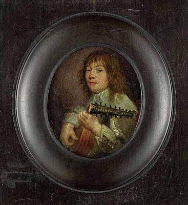 Portrait Of A Lute Player, Anonymous Art Print by Litz Collection