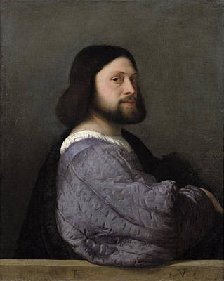 Portrait Of A Man, C.1512 Oil On Canvas Art Print by Titian
