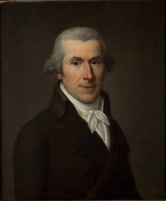 Cravat Photograph - Portrait Of A Man, C.1799-1800 Oil On Canvas by Jean Louis Laneuville