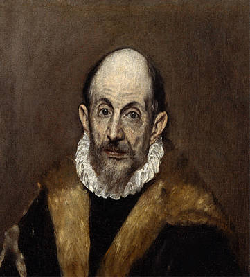 Portaits Painting - Portrait Of A Man by El Greco