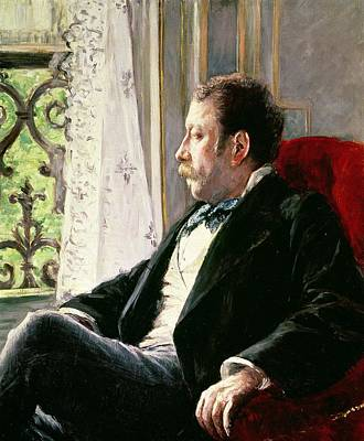 Sit-ins Painting - Portrait Of A Man by Gustave Caillebotte