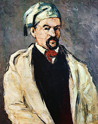Post-impressionist Photograph - Portrait Of A Man In A Blue Cap, Or Uncle Dominique, C.1866 Oil On Canvas by Paul Cezanne