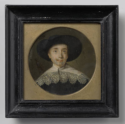 Seventeenth Century Drawing - Portrait Of A Man In Seventeenth-century Clothing by Litz Collection