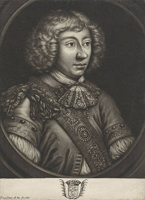 Somer Drawing - Portrait Of A Man, Jan Van Somer by Jan Van Somer