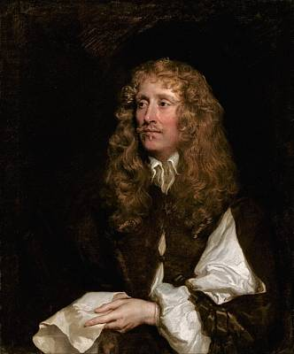 Baroque Painting - Portrait Of A Man by Peter Lely