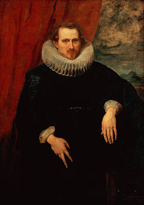 Ruff Painting - Portrait Of A Man by Sir Anthony van Dyck