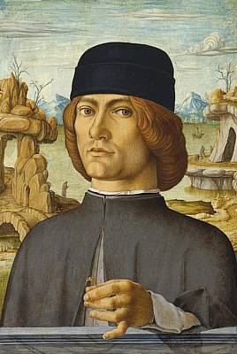 Holy Ring Painting - Portrait Of A Man With A Ring by Francesco del Cossa