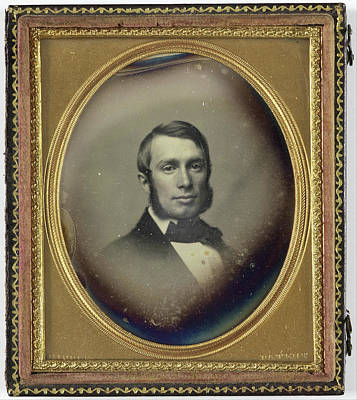 Portrait Of A Man With Sideburns, John Adams Whipple Art Print by Artokoloro
