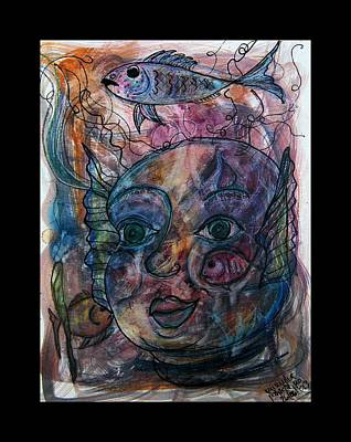 Portrait Of A Merchild Print by Mimulux patricia no No